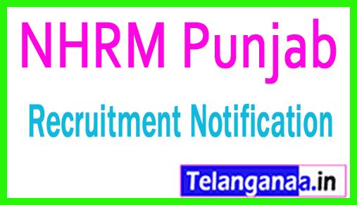 National Health Mission NHRM Punjab Recruitment Notification