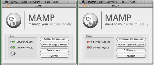 Interface Mamp sur Mac OS