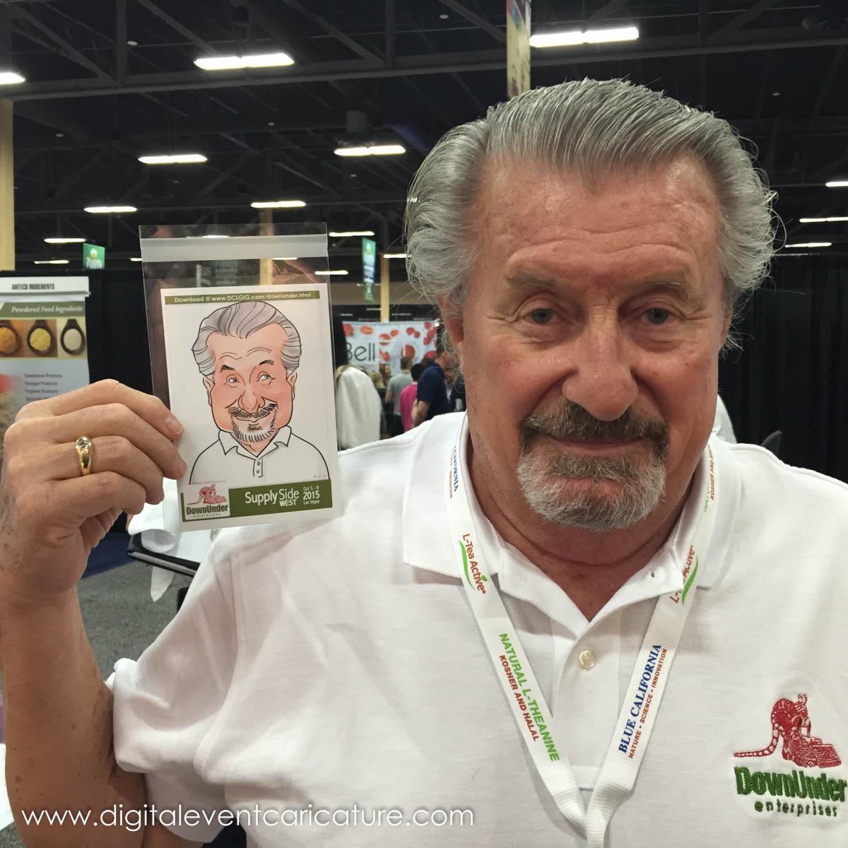 Digital Event Caricature News Blog: Supply Side West, Las Vegas!