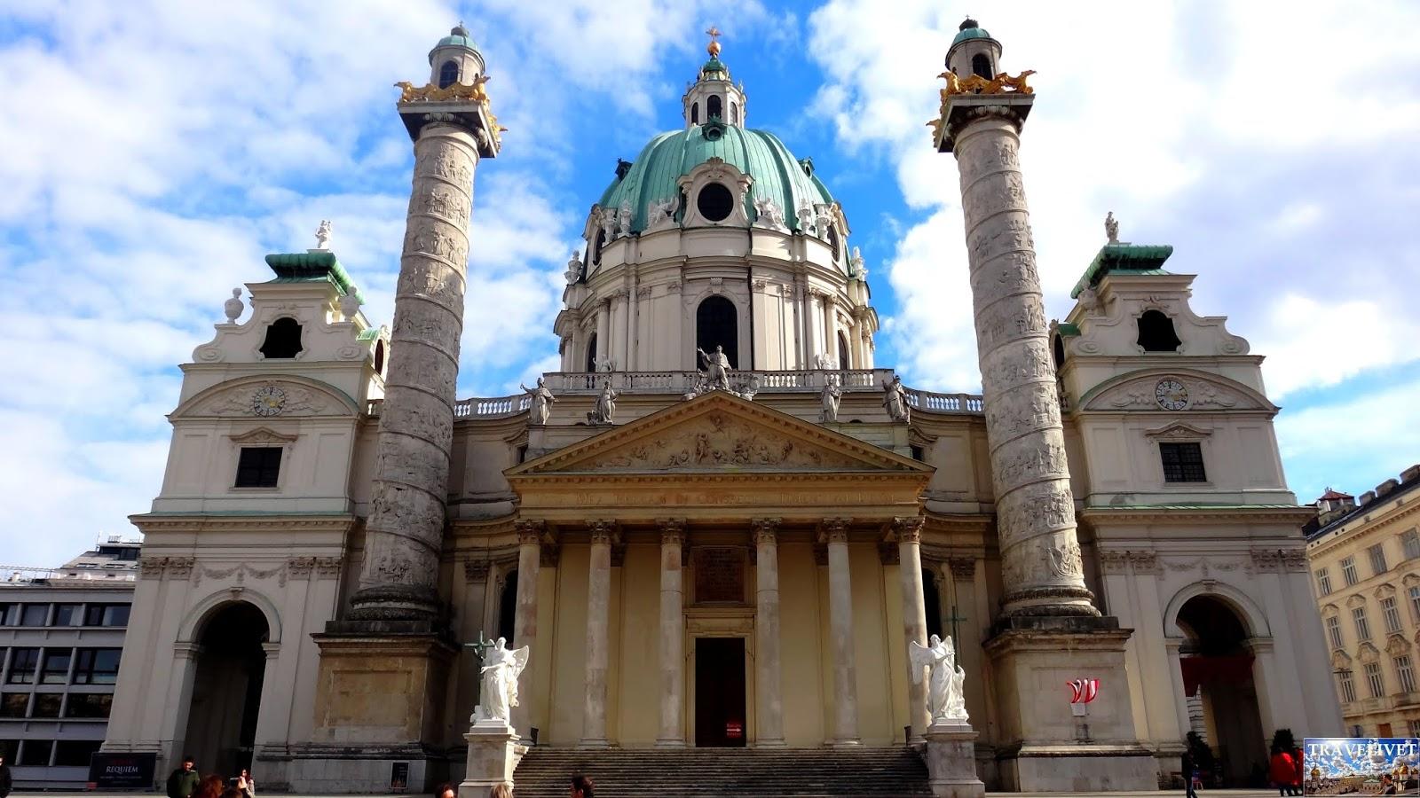 Autriche Vienne église Saint Charles Borromée, Karlskirche