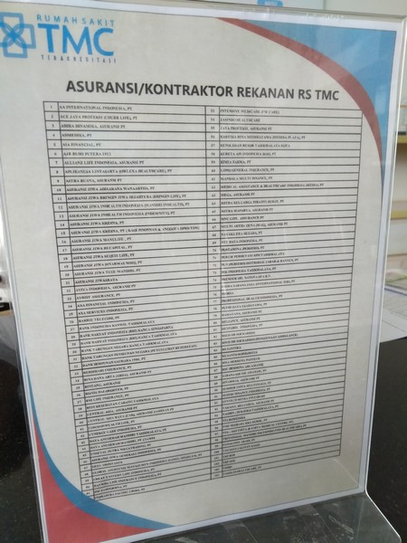 Daftar Asuransi Yang Bekerjasama Dengan Rumah Sakit Tmc