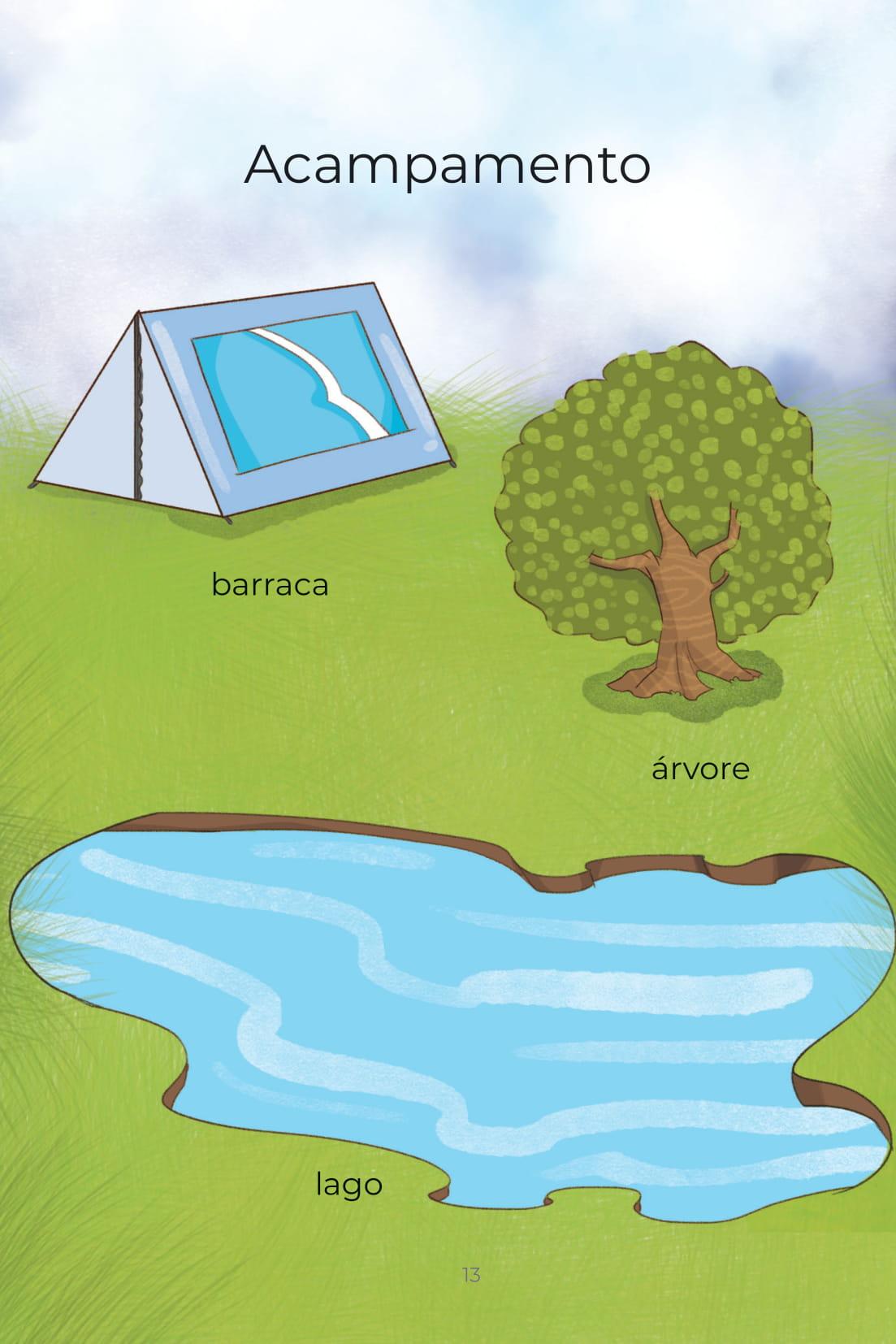 Acampamento barraca árvore lago
