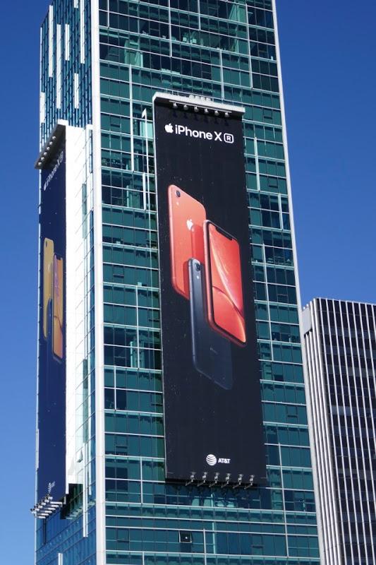 Apple iPhone XR red billboard