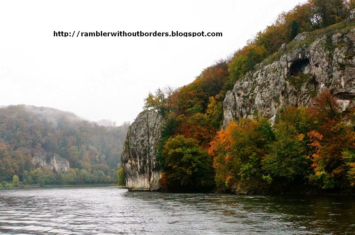 The narrow, Danube Gorge, Germany