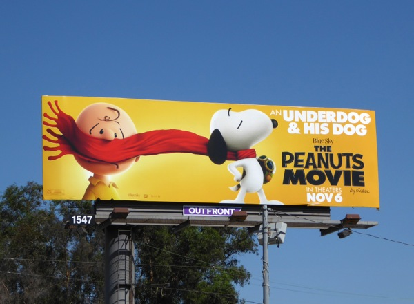 Peanuts Movie underdog billboard