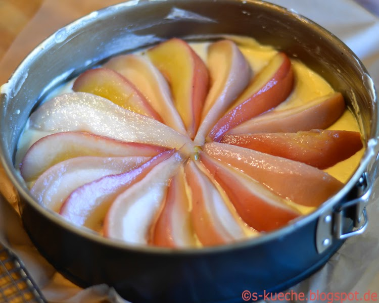 Birnen Marzipankuchen
