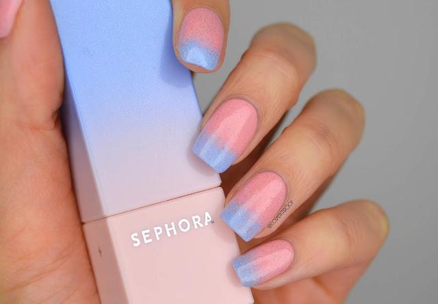 Pastel Glitter Gradient Nail Art