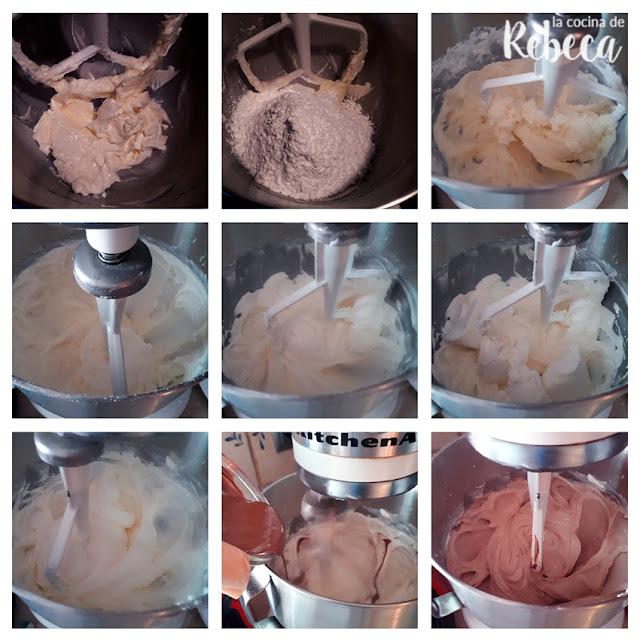 Receta tarta abecedario de chocolate de galleta y crema: preparación de la crema