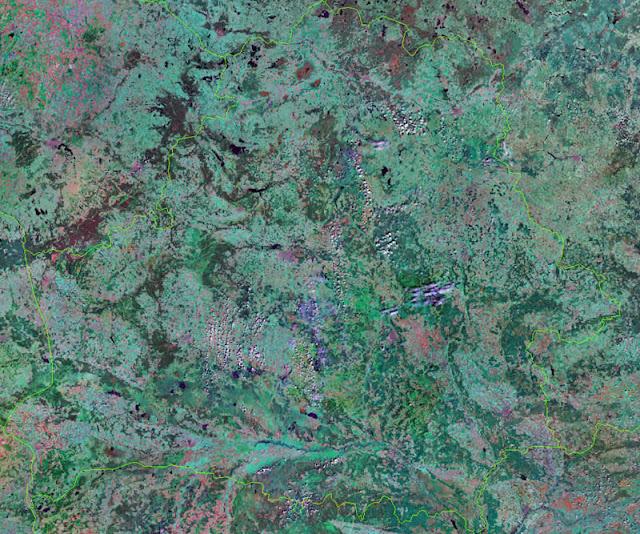 Gambar Peta Negara Belarus tampak dari satelit
