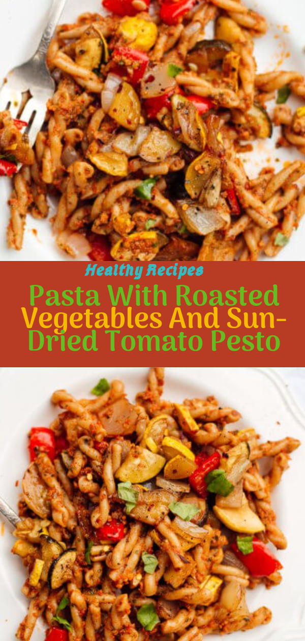 Healthy Recipes | Pasta With Roasted Vegetables And Sun-Dried Tomato Pesto, Healthy Recipes For Weight Loss, Healthy Recipes Easy, Healthy Recipes Dinner, Healthy Recipes Pasta, Healthy Recipes On A Budget, Healthy Recipes Breakfast, Healthy Recipes For Picky Eaters, Healthy Recipes Desserts, Healthy Recipes Clean, Healthy Recipes Snacks, Healthy Recipes Low Carb, Healthy Recipes Meal Prep, Healthy Recipes Vegetarian, Healthy Recipes Lunch, Healthy Recipes For Kids, Healthy Recipes Crock Pot, Healthy Recipes Videos, Healthy Recipes Weightloss, Healthy Recipes Chicken, Healthy Recipes Heart, Healthy Recipes For One, Healthy Recipes For Diabetics, Healthy Recipes Smoothies, Healthy Recipes For Two, Healthy Recipes Simple, Healthy Recipes For Teens, Healthy Recipes Protein,Healthy Recipes Steak, Healthy Recipes For School, Healthy Recipes Slimming World, Healthy Recipes Fitness, Healthy Recipes Baking, Healthy Recipes Sweet, Healthy Recipes Indian, Healthy Recipes Summer, Healthy Recipes Vegetables, Healthy Recipes Diet, Healthy Recipes No Meat, Healthy Recipes Asian, Healthy Recipes On The Go, Healthy Recipes Fast, Healthy Recipes Ground Turkey, Healthy Recipes Rice, Healthy Recipes Mexican, Healthy Recipes Fruit, Healthy Recipes Tuna, Healthy Recipes Sides, Healthy Recipes Zucchini, Healthy Recipes Broccoli, Healthy Recipes Spinach,  #healthyrecipes #recipes #food #appetizers #dinner #pasta #roasted #vegetables #tomato #pesto
