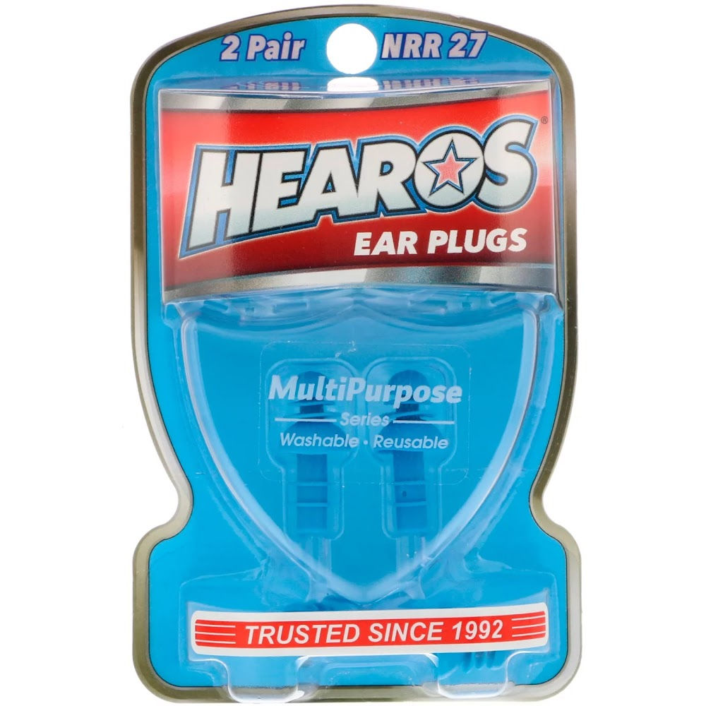 Hearos, Ear Plugs, Multi-Purpose Series , 2 Pair + Free Case