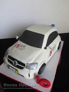 bolo esculpido carro