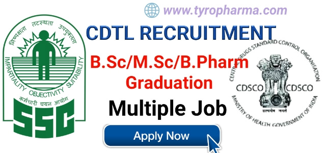 Staff  Selection  Commission Recruitment   Multiple job openings in Central Drugs Testing Laboratory