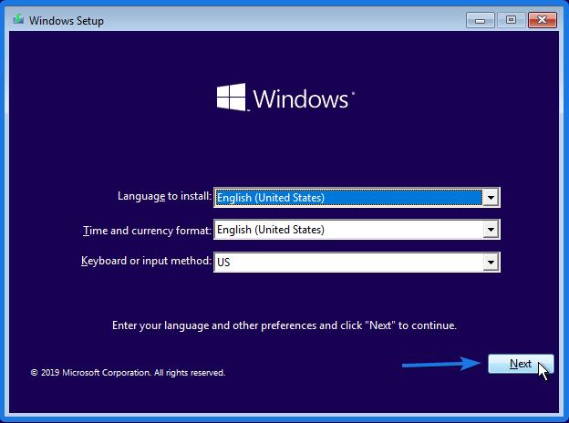 Installing Windows 10 OS