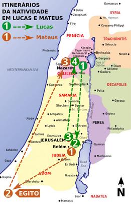 Itinerários da Natividade em Lucas e Mateus