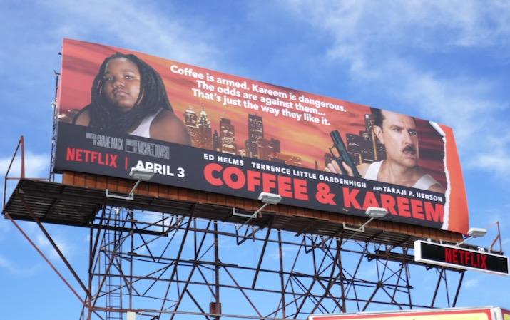 Coffee and Kareem Die Hard spoof billboard