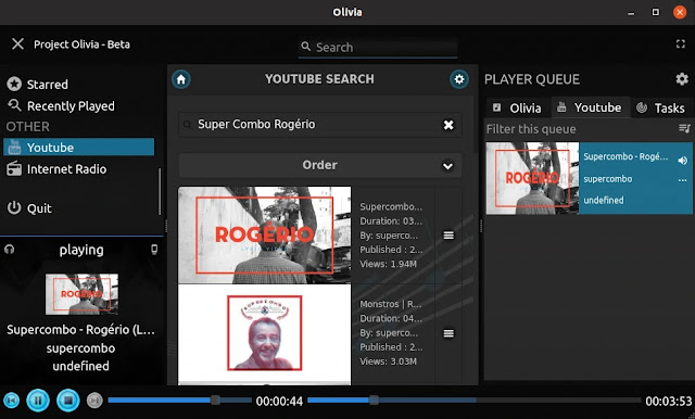 olivia-snap-player-cloud-music-musica-streaming-youtube-rádio-app-linux