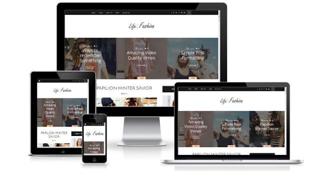 life and fashion шаблон для blogger