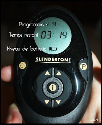 télécommande  de la ceinture Abs 7 de Slendertone