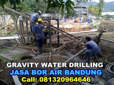 jasa pengeboran air di bandung gravity water drilling
