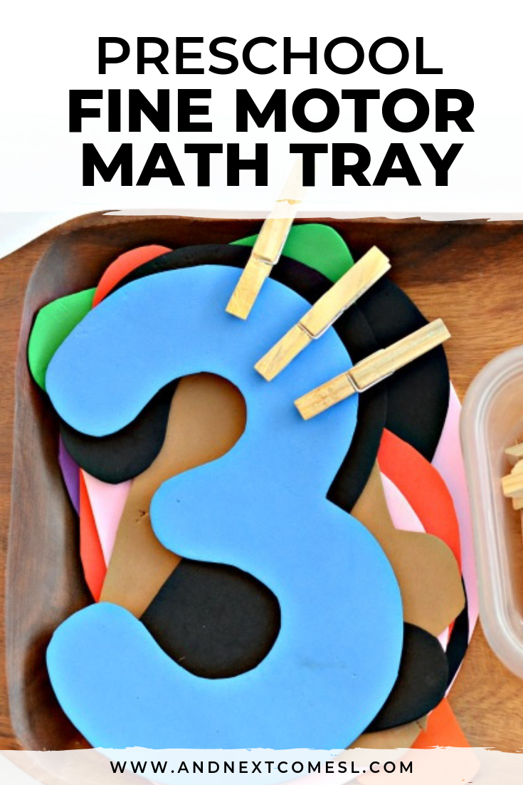 Fine motor math and counting activity for toddlers and preschool aged kids