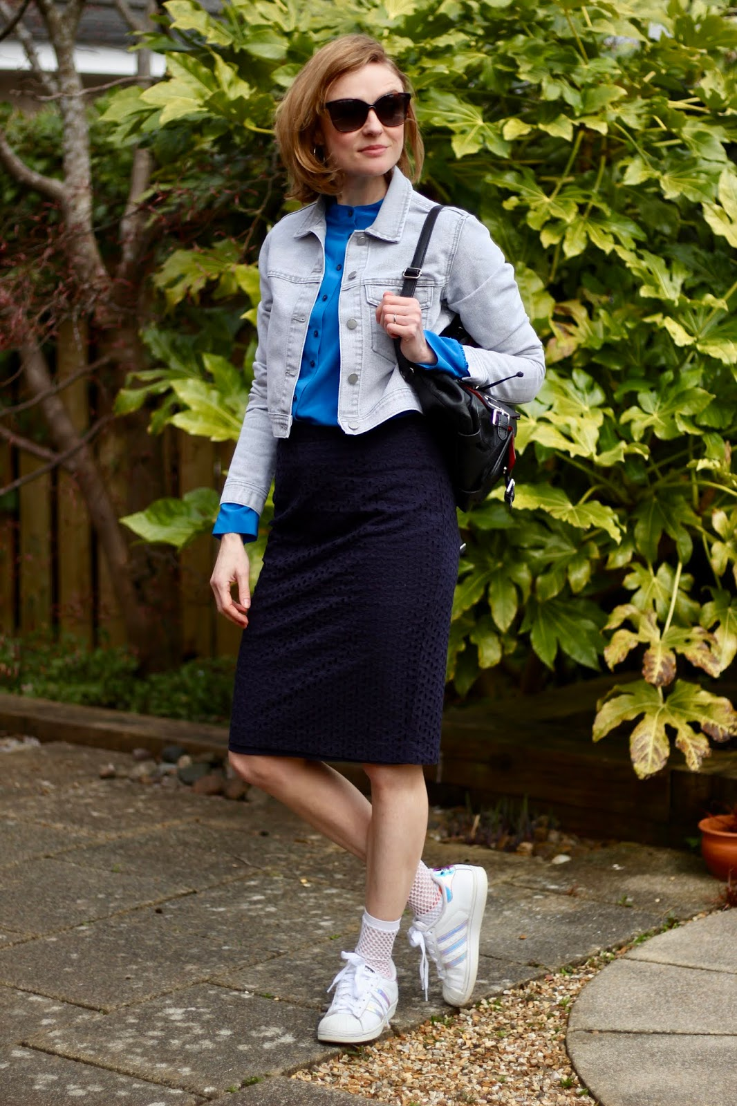 Mixed Blues and Grey | Spring Outfit | Fake Fabulous