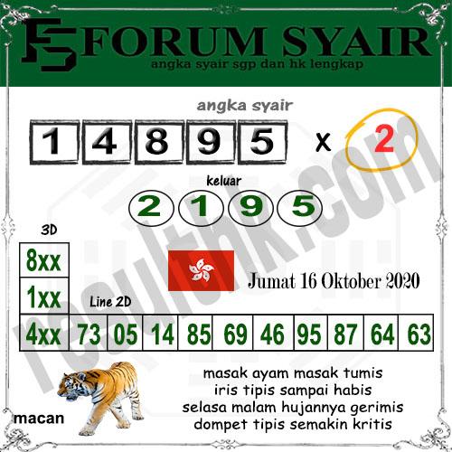 Forum syair hk Jumat 16 Oktober 2020