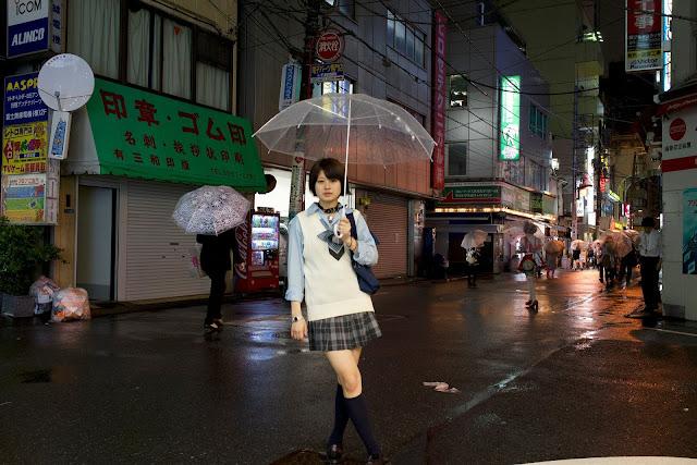 東京、8月、雨