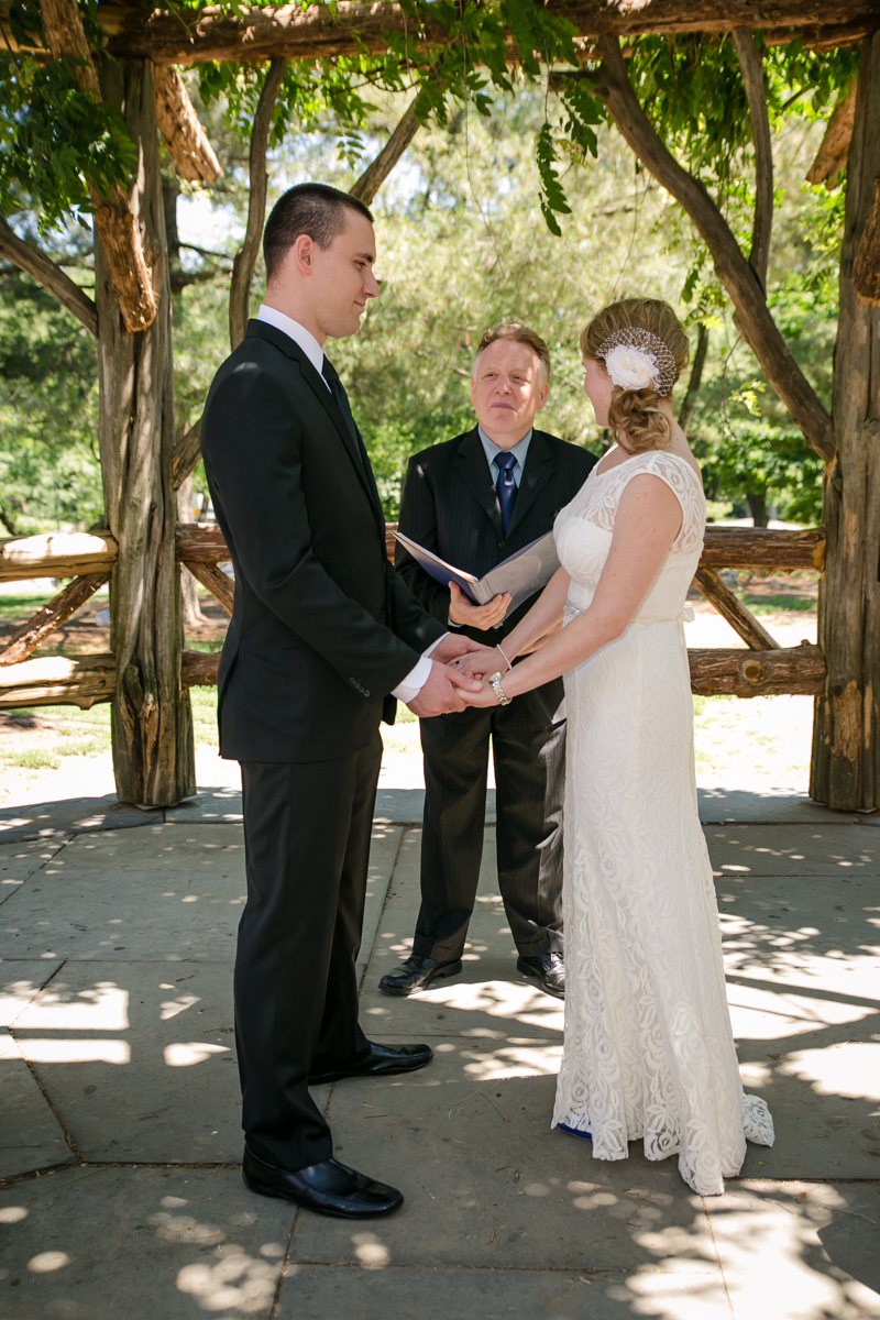 Simple Central Park Wedding Ceremony