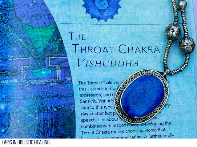 Ultramarine blue oval lapis pendant