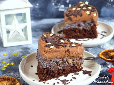 Ciasto czekoladaowo-makowe
