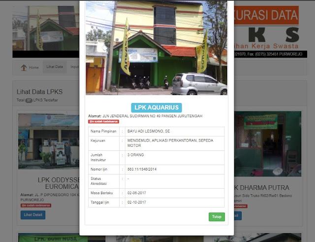 Download Sistem Informasi LPKS Berbasis PHP CRUD