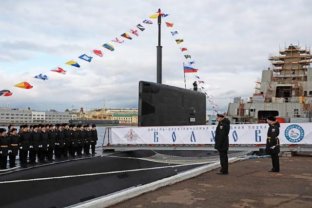 La Armada rusa ha recibido un nuevo submarino diésel-eléctrico Proyecto 636.3 del Astillero Almirantazgo de San Petersburgo.  Llamado Volkhov , será asignado a la Flota del Pacífico de Rusia junto con el submarino hermano Petropavlovsk-Kamchatsky .  La puesta en servicio de Volkhov está programada antes de finales de noviembre de 2020.