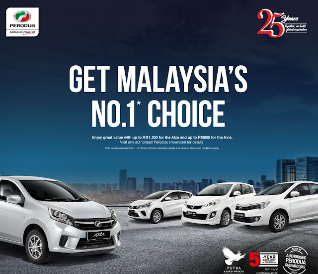Promosi Perodua Bulan March 2018