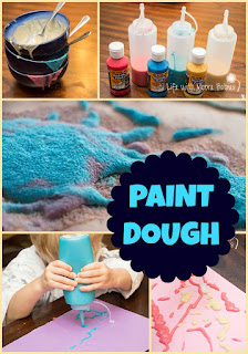 Squeezable Paint Dough a Unique Way to Paint