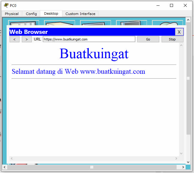 Hasil pengecekan DNS dan Web Server