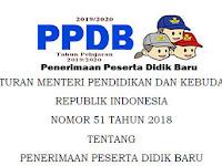 Juknis PPDB sesuai Permendikbud No 51 Tahun 2018