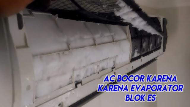 penyebab ac kurang freon, evaporator membeku karena kurang freon
