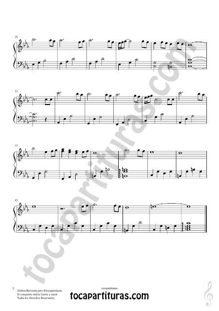 Hoja 2  Partitura de Piano Fácil en formato JPG gratis para su desgarga de Ensoñación de Ainhoa Beristain Easy Piano Sheet Music for beginners