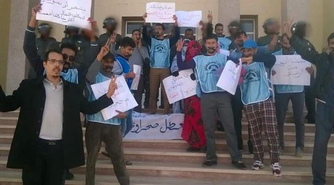 Una protesta de desempleados saharauis contra la discriminación y el paro en Smara ocupada acaba reprimida por las fuerzas marroquíes dejando dos detenidos.