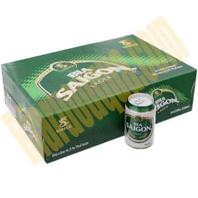 Thùng bia lon Sài Gòn Lager