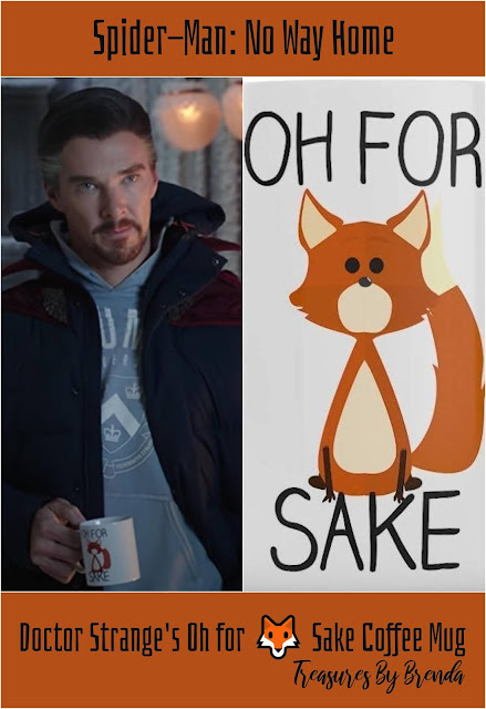 Doctor Strange makes a statement with his Oh For 🦊 Sake coffee mug in the new Spider-Man: No Way Home trailer.