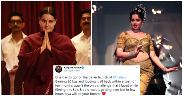 People Brand Kangana A 'Liar' After She Shares Glimpses Of Her 'Thalaivi' Body Transformation