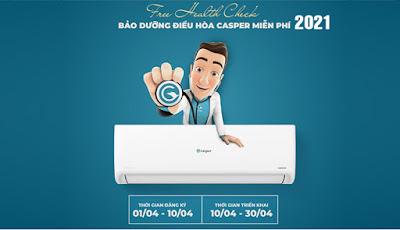 [ Miễn phí ] Bảo dưỡng điều hòa Casper 2021