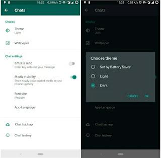 √ Cara Mengaktifkan Dark Mode / Mode Gelap Di Whatsapp