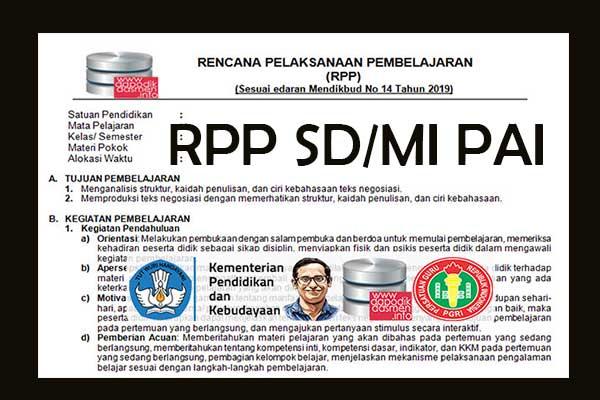 RPP 1 Lembar PAI SD/MI Semester 2, Download RPP 1 Halaman PAI Kurikulum 2013 SD/MI Semester 2 Revisi Terbaru, RPP dan Silabus PAI 1 Halaman Semester 2 SD/MI Kelas 1 2 3 4 5 6
