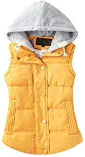 fall vest in yellow