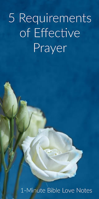 5 Requirements of Effective Prayer