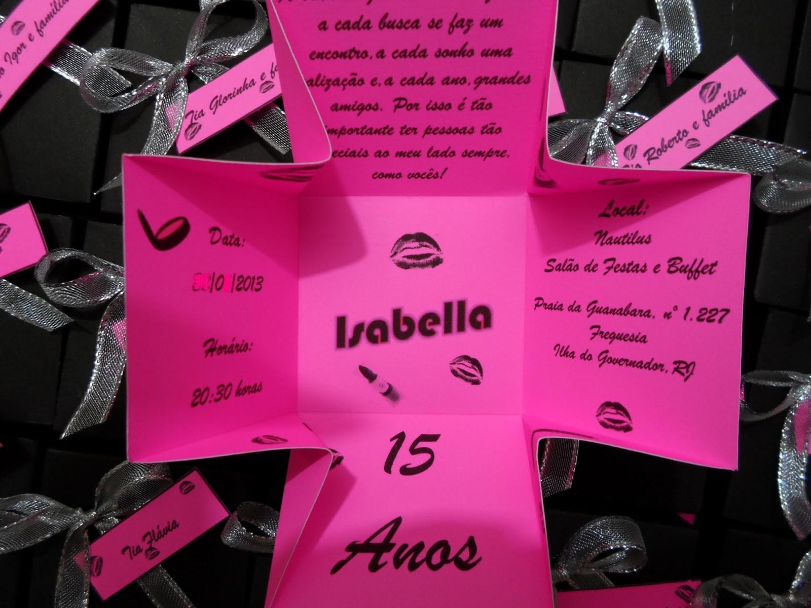 Convite De Aniversario De 15 Anos: .: Convites Caixa