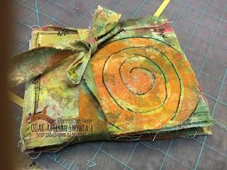 Jean Peter OOAK Gelli Plate Envelope Book